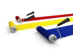 farba rolki (rolek) Obraz Stock