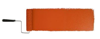 Farba rolownik Z Logn Pomarańczowym uderzeniem Fotografia Stock