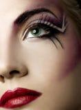 farba twórcze twarzy Zdjęcia Royalty Free