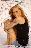 farba zakrywający nastolatek obrazy stock
