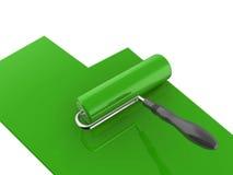 farba zielony rolownik Zdjęcie Royalty Free