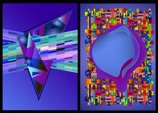Farbabdeckungen stellten gut für Abdeckungsplakat-Fahnendesign ein Lizenzfreie Stockfotos