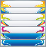 Farbabstrakter Fahnensatz Stockfotos