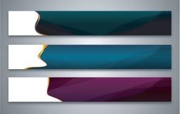 Farbabstrakter Fahnensatz Stockfoto