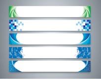 Farbabstrakter Fahnensatz Stockbilder