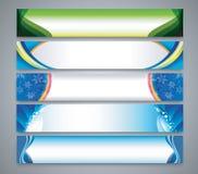 Farbabstrakter Fahnensatz Stockbild