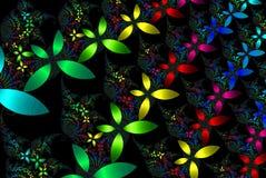 Farbbänder der Blumen Stockfotografie