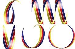 Farbbänder des Vektor 3d Lizenzfreies Stockbild