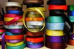Farbbänder für Dekoration, Stickerei Lizenzfreie Stockfotos