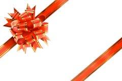 Farbbänder für die Verzierung der Geschenke. Stockfotos