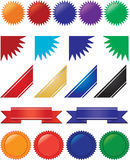 Farbbänder, Fahnen und Impulsansammlung Stockbild