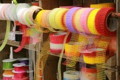 Farbband Dekorativblumenhändler 1 Stockfoto