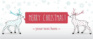 Farbband der frohen Weihnachten Stockfoto