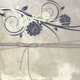 Farbband und Blumen vektor abbildung