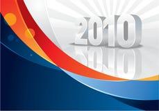 Farbband und Kalender 2010 Stockbilder