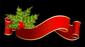 Farbband wird für christmastides verziert Stockfotografie