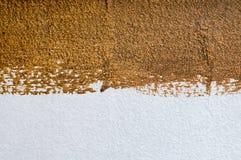 Farbbeschaffenheit der Wand weiße und braune gemalt Stockfoto