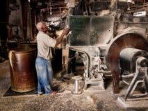 Farbbild Tinsel Twine Factory Port-Au-Prince Haiti Stockfotografie