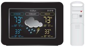 Farbbildschirm und Sensor für Wetterstation Stockfoto