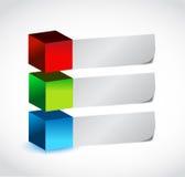 Farbblasen und Papiertextraum. Illustration Stockfotografie