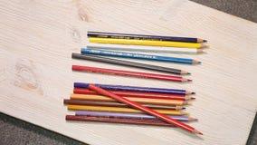 Farbbleistift Bleistifte, Briefpapier, ein Schreibwarengeschäft stock footage