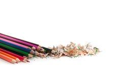 Farbbleistift Whit-Bleistiftscharfe Lizenzfreie Stockfotografie