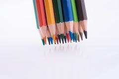 Farbbleistifte von verschiedenen Farben Lizenzfreies Stockbild