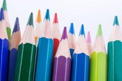 Farbbleistifte von verschiedenen Farben Stockfoto