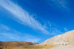 Farbboden von Quecksilberablagerungen in Altai Stockbild
