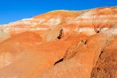 Farbboden von Quecksilberablagerungen in Altai Stockbilder