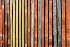 Farbbretterzaun Stockfotografie