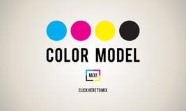 Farbdesign-Modell Art Paint Pigment Motion Concept stock abbildung