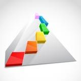 Farbe überlagerte Pyramide. Geschäftskonzept Stockfotos
