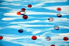 Farbe, Aquarell und Wachs, abstrakter Hintergrund Stockfoto