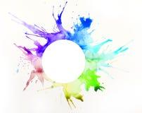 Farbe auf einem Blatt Papier stockbild