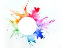 Farbe auf einem Blatt Papier lizenzfreie stockfotos