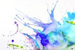 Farbe auf einem Blatt Papier Lizenzfreies Stockfoto