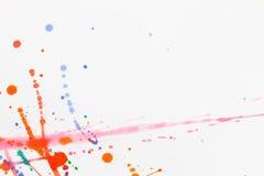 Farbe auf einem Blatt Papier lizenzfreie stockbilder