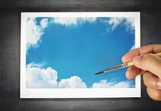 Farbe auf Himmel Stockfotografie