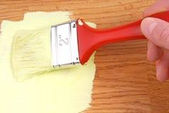 Farbe auf Holzoberfläche lizenzfreies stockfoto