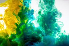 Farbe auf weißem Hintergrund Lizenzfreies Stockbild