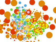 Farbe aufgerundeter Hintergrund, Vektor Stockfoto