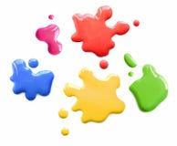 Farbe beschmutzt Hinweise Stockfoto