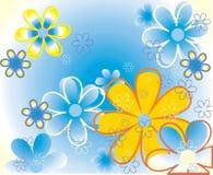 Farbe blüht Hintergrund Vektor Abbildung