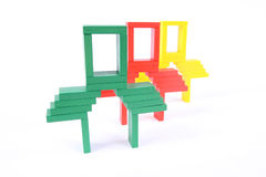 Farbe blockt Spielzeug Stockfoto