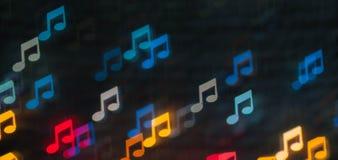 Farbe-Bokeh-Anmerkungs-Formhintergrund Lizenzfreie Stockbilder