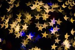 Farbe-Bokeh-Sternform Stockbild