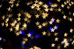 Farbe-Bokeh-Sternform Lizenzfreies Stockbild