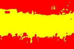 Farbe der spanischen Flagge Stockfotografie