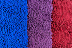 Farbe des Fußschabers 3 rot, blau, purpurrot Lizenzfreies Stockfoto